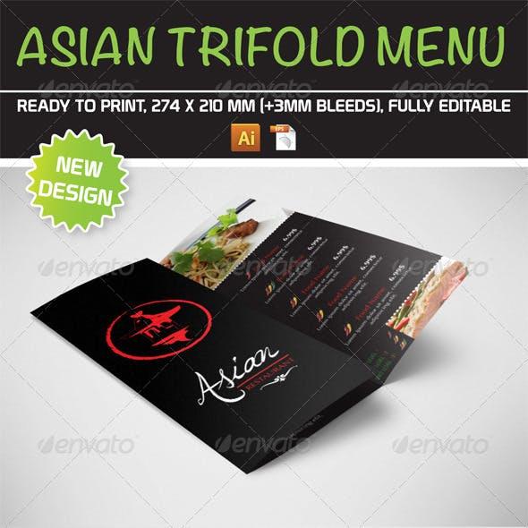Asian Trifold Menu Template