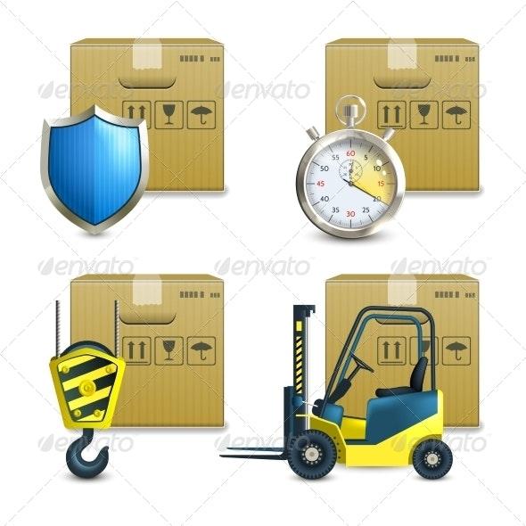 Logistic Icons Set - Technology Icons