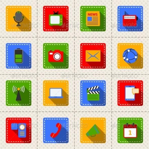 Media Icons Set - Technology Icons