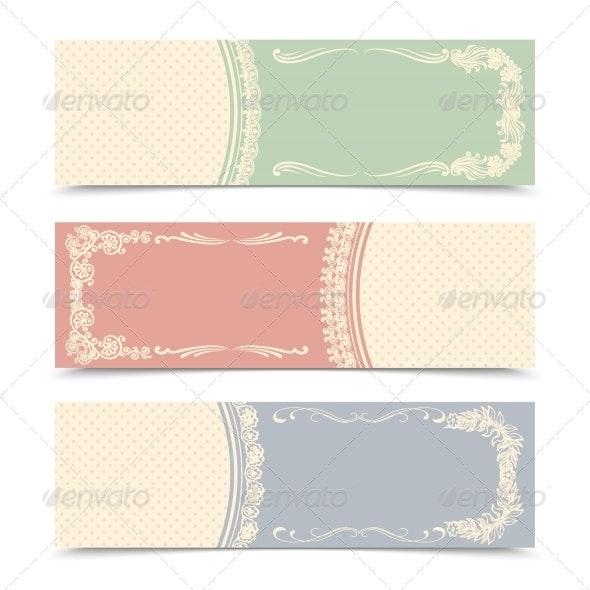 Blank Decorative Banners - Borders Decorative