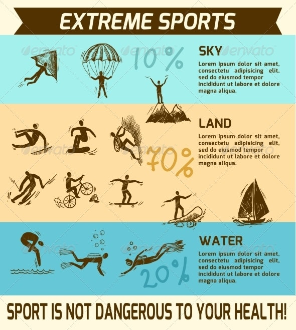 Extreme Sports Infographic - Sports/Activity Conceptual