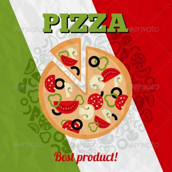 Italy Pizza Poster - Food Objects