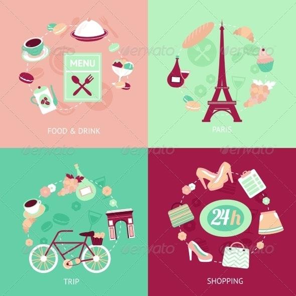 Paris City Set - Travel Conceptual