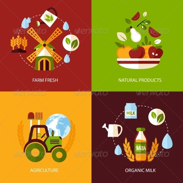 Agriculture Icon Set - Industries Business