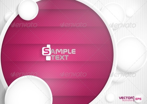 Abstract Background With White Paper Circles - Backgrounds Decorative