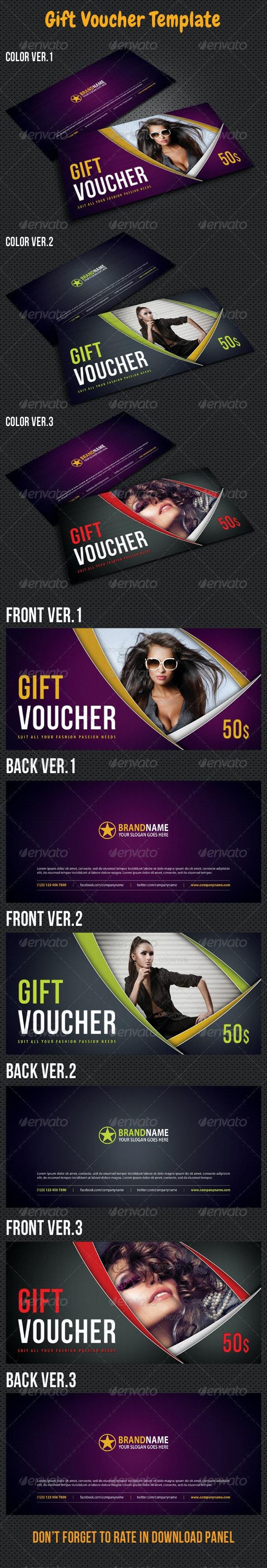 Gift Voucher V10 - Cards & Invites Print Templates