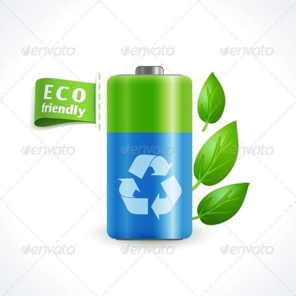 Ecology Symbol Battery - Miscellaneous Conceptual