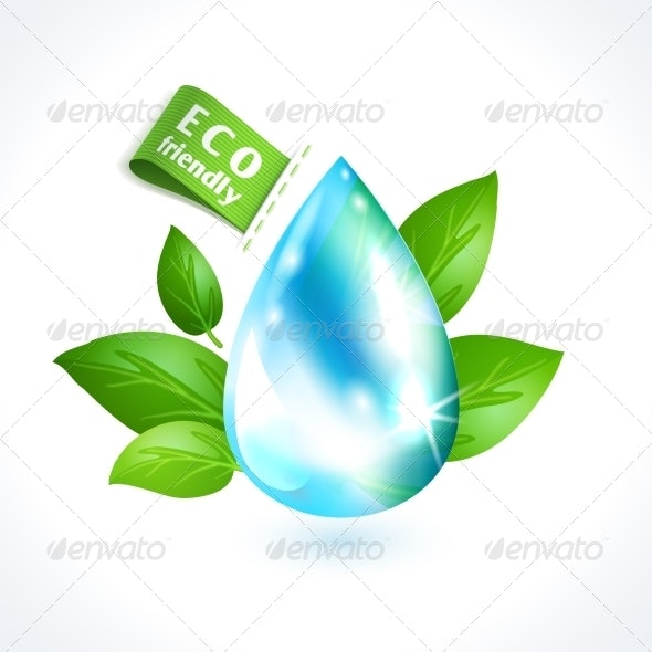 Ecology Symbol Water Drop - Miscellaneous Conceptual