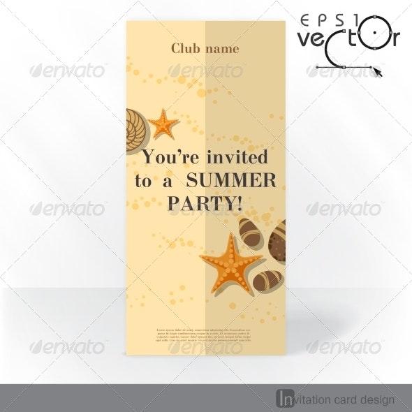 Party Invitation Card Design, Template - Travel Conceptual