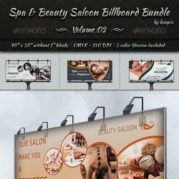 Spa & Beauty Saloon Billboard Bundle | Volume 2