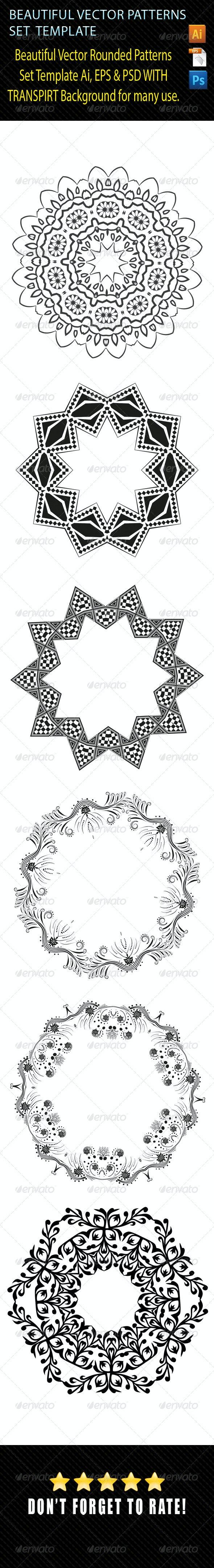 Vector Pattern Set Template 01 - Patterns Decorative