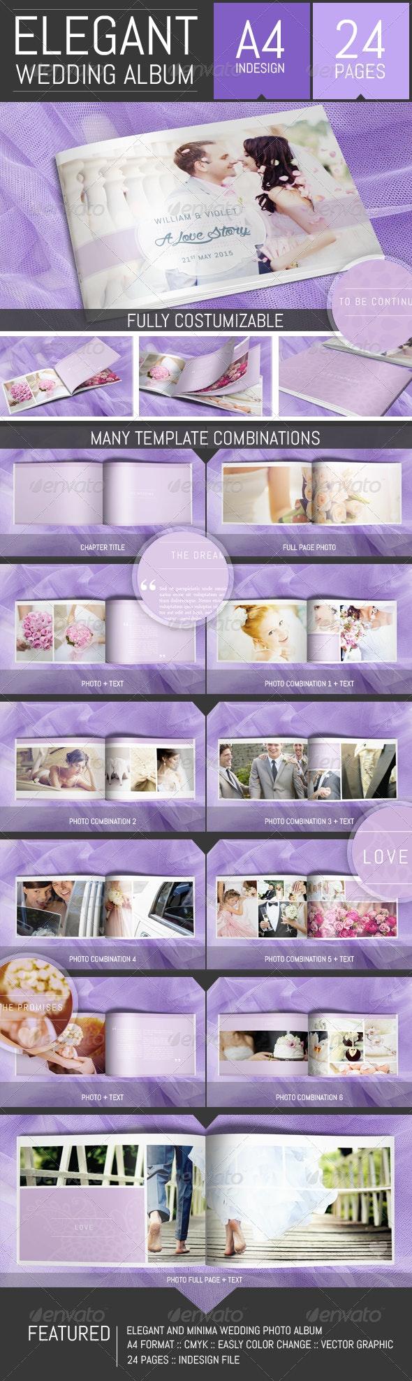 Wedding Photo Album Template - Photo Albums Print Templates