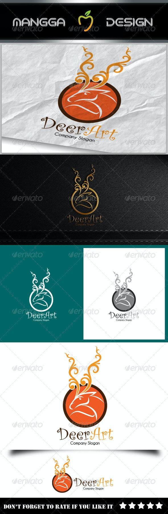 Deer Art Logo - Animals Logo Templates
