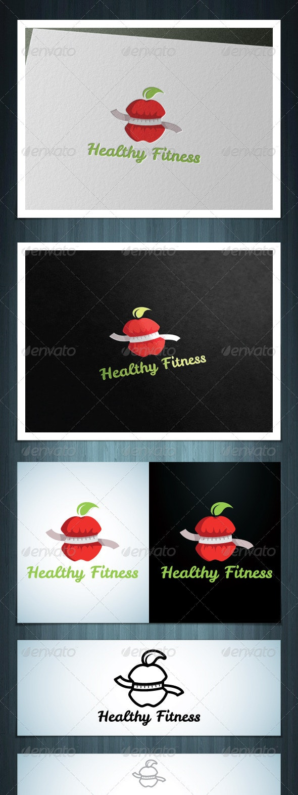 Healthy Fitness - Vector Abstract