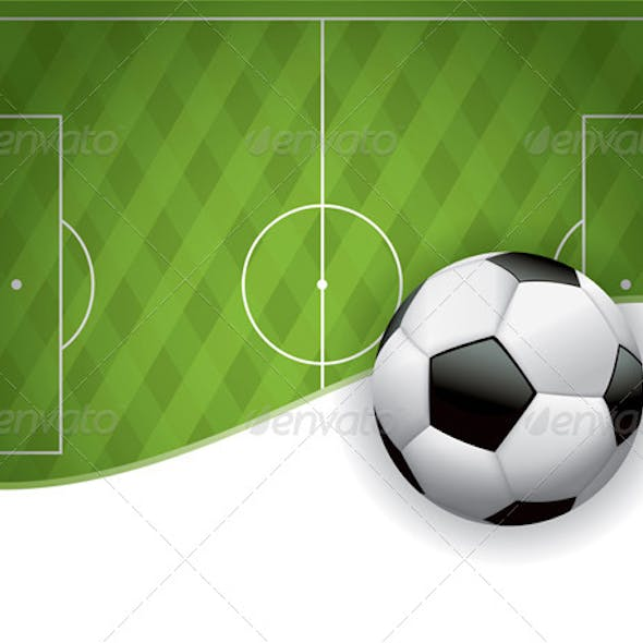 Football American Soccer Field and Ball Background