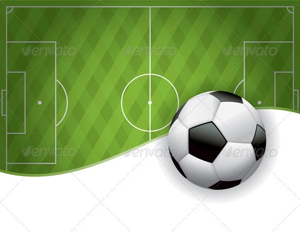 Football American Soccer Field and Ball Background - Sports/Activity Conceptual
