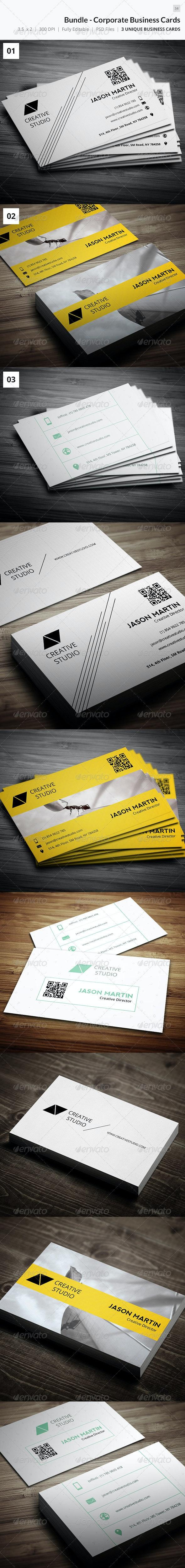 Bundle - Corporate Business Cards - 34 - Corporate Business Cards