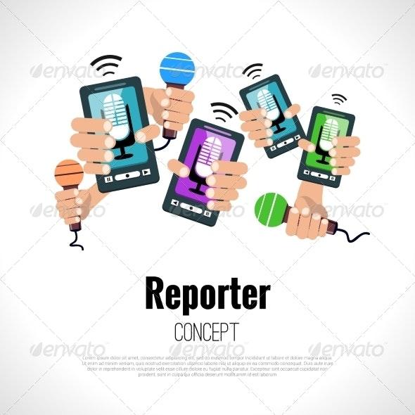 Journalist Reporter Concept - Industries Business
