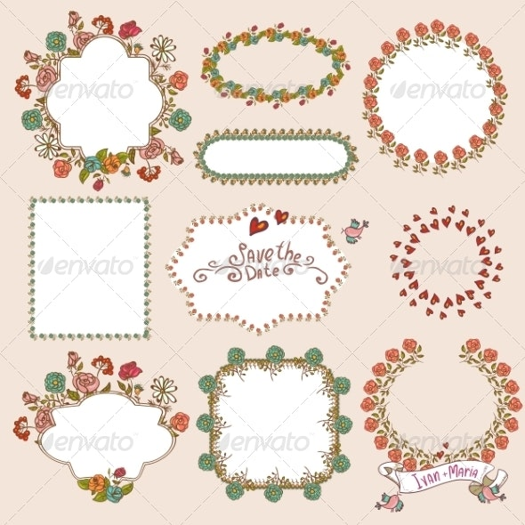 Floral Laurels, Ribbons and Wreaths - Patterns Decorative