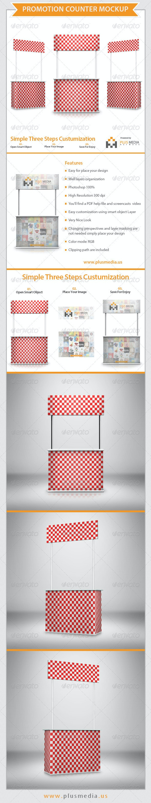 Promotion Counter Mockup - Print Product Mock-Ups