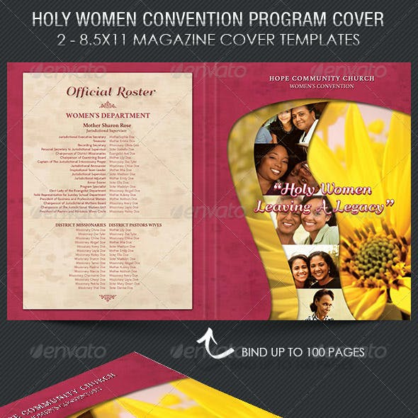 Holy Women Convention Program Cover Template