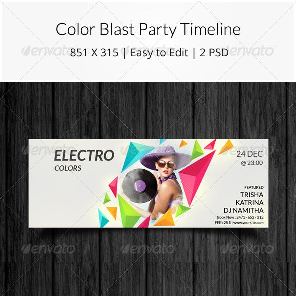 Color Blast Party Timeline