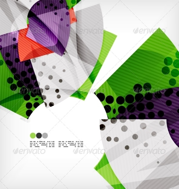 Semicircle Geometric Vector Abstract Background - Abstract Conceptual