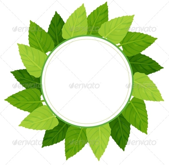 Round Green Leafy Border - Borders Decorative
