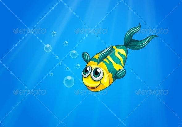 A Fish Swimming in the Sea - Animals Characters