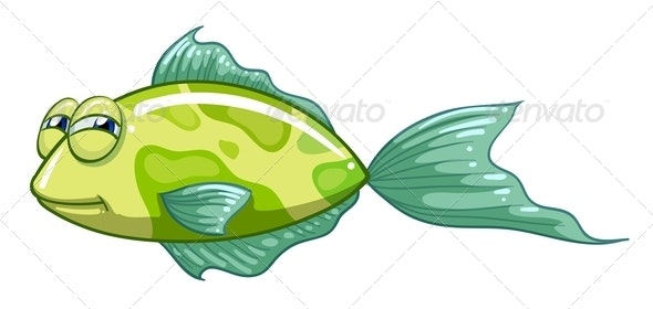 A Green Fish - Animals Characters