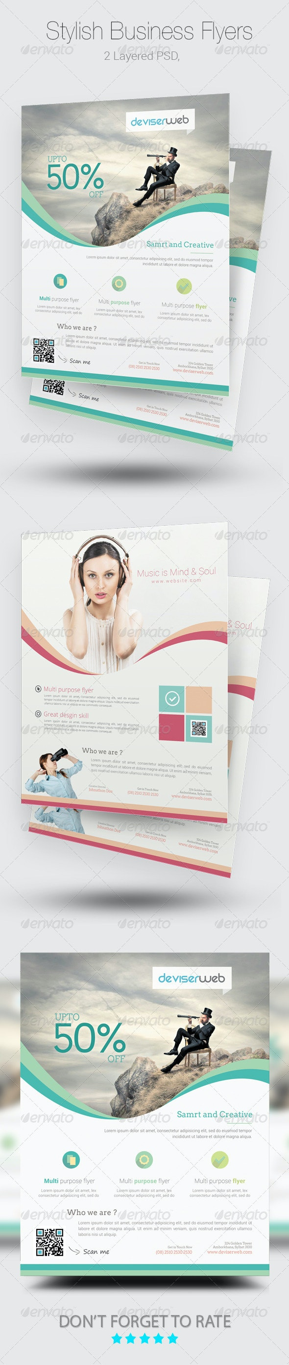 Stylish Business Flyer/poster Templates - Corporate Flyers