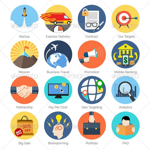 Modern Flat Icons - Miscellaneous Icons