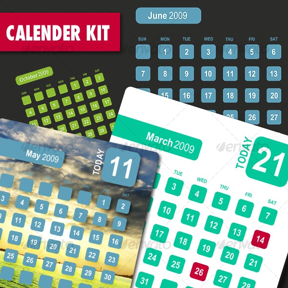 Calendar Kit - Miscellaneous Print