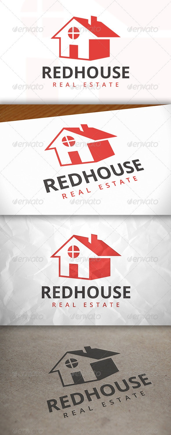 Red House Logo - Buildings Logo Templates