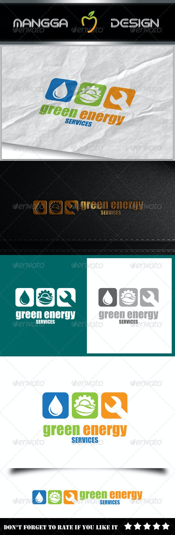 Green Energy Services Logo - Symbols Logo Templates