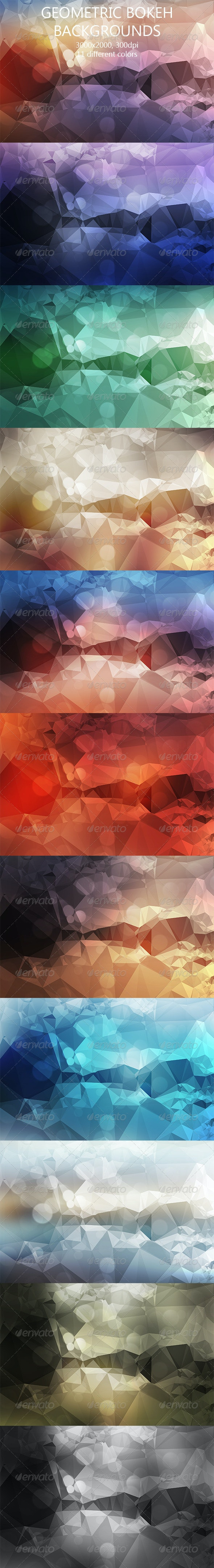 Geometric Bokeh Backgrounds  - Abstract Backgrounds