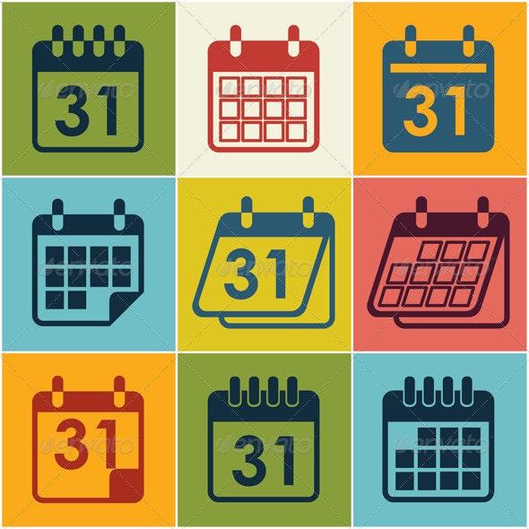 Icon Calendar  - Vectors
