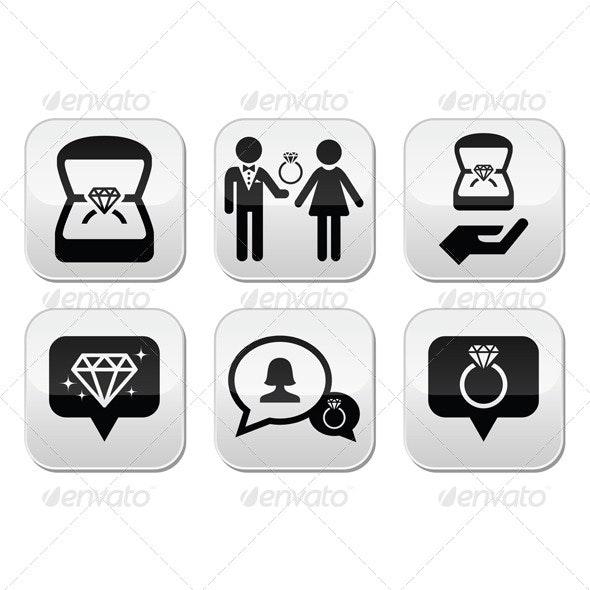 Engagement Icons Set - Conceptual Vectors