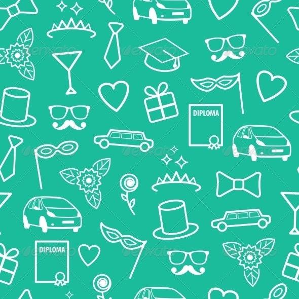 Prom Seamless Pattern - Patterns Backgrounds