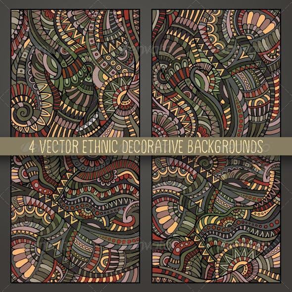 4 Decorative Ethnic Backgrounds