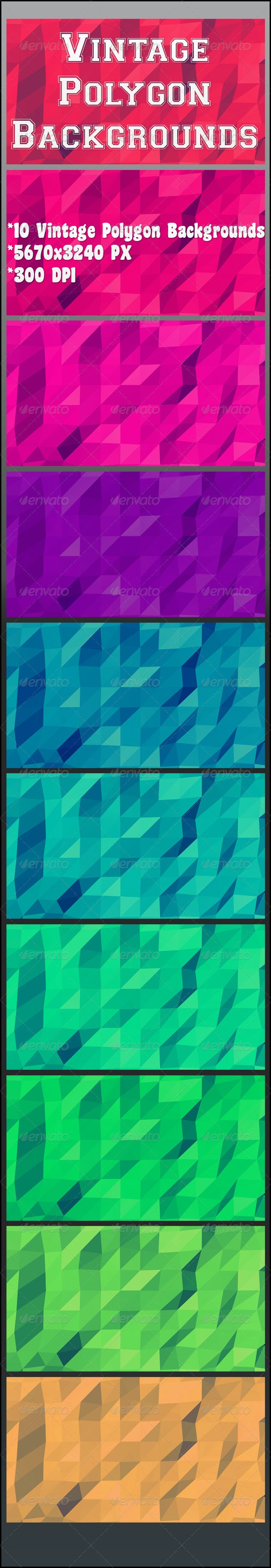 Vintage Polygon Backgrounds - Abstract Backgrounds