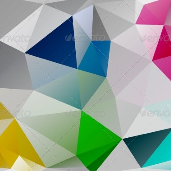 Triangle Background. Colorful Polygons