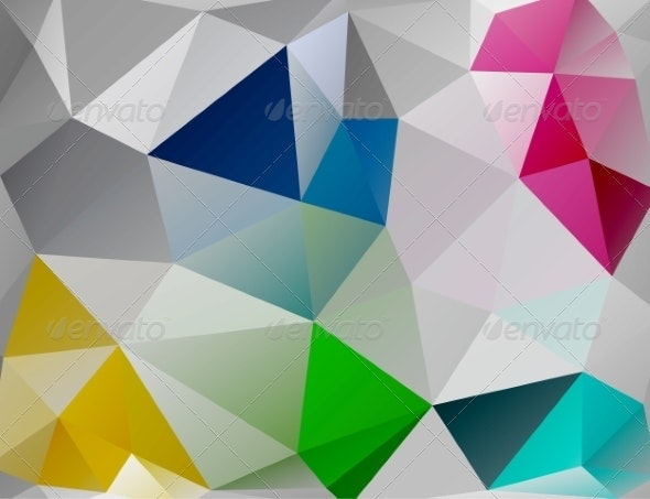 Triangle Background. Colorful Polygons - Backgrounds Decorative