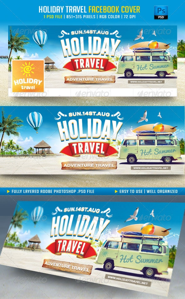 Holiday Travel Facebook Cover - Facebook Timeline Covers Social Media