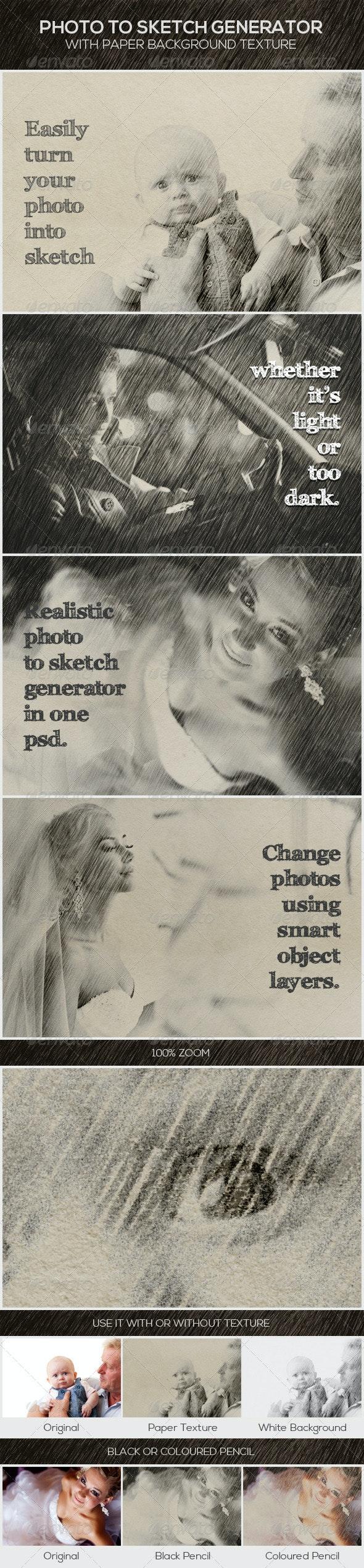 Photo to Sketch Generator - Artistic Photo Templates