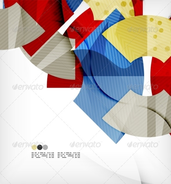 Abstract Geometric Shapes Background - Abstract Conceptual