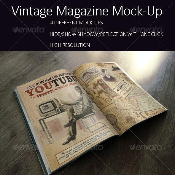 Photorealistic Vintage Brochure/Magazine Mock-up