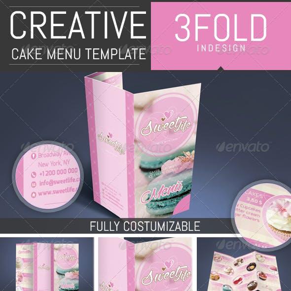 Cake / Cupcake / Pastry Menu Template