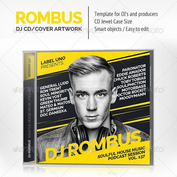 Rombus - DJ Mix CD Cover Artwork PSD