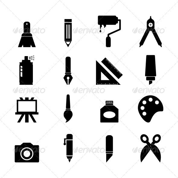 Art Tool Icon - Objects Icons